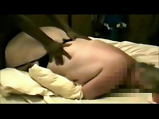 Mature bbw Milf cuckolds hubby with black guy