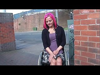 Wheelchair bound leah caprice in uk flashing and outdoor nudity