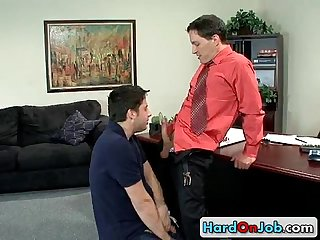 Chris gets super hard and deep anal fuck 2 by hardonjob