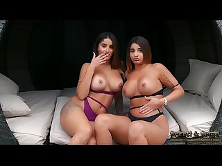 Indian twins strip fantasy boobs pussy play
