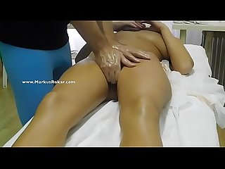 Masseur Fingering my wife's pussy in front of me is that a cuckold massage?