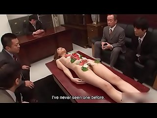 Japanese Busty Secratary is getting hard..For full..