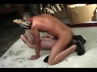 skinny son gets hot creampie from his step dad with big cock