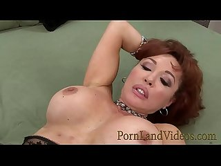 Redhead slutty mommy sexy Vanessa loves big young cocks