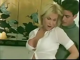Sexy blonde tranny getting pleasure - aShemaletube.com[via..