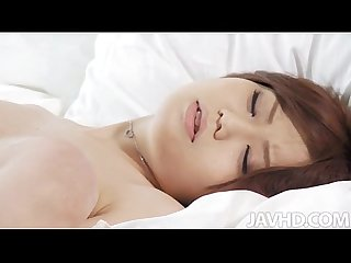 Drop dead gorgeous nao with a horny guy in her bedroom fucking like rabbits