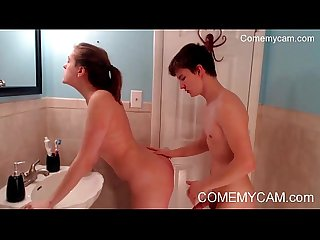 Virgin step sister hard fucking sucking to brother in bathroom on comemycam com