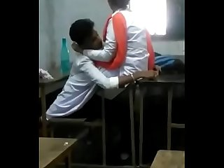 Indian Students Romancing in Class Room - Watch more at http://desixgirls.xyz