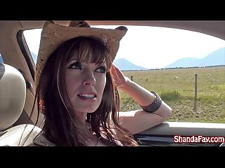 Good outdoors canadian fun with an amateur Busty Milf shanda fay excl