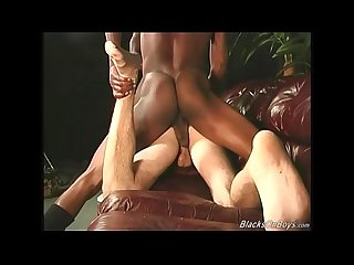 Big cocked Blacks assfucking a white dude