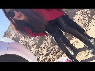 Hot japanese in leather leggings gets fucked watch more on hotsexmedia period com