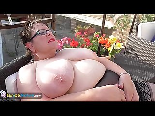 EuropeMature Honey solo mature masturbation