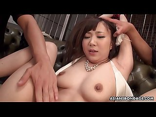 Erika Akagi got tied up and stimulated with a vibrator