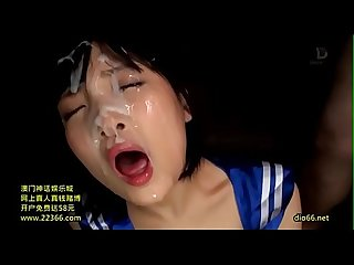 Japanese girl gets epic bukkake 7 huge loads