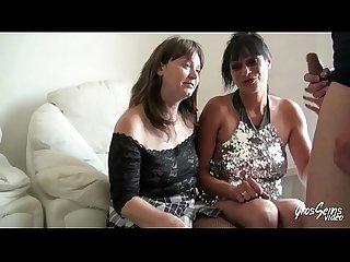 Katlyn veut une baise avec une femme et choisit sylvie pour une partouze endiable