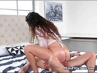 Mature chick jessica torres loves big young cock