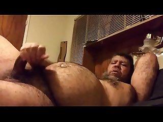 Hairy macho cum