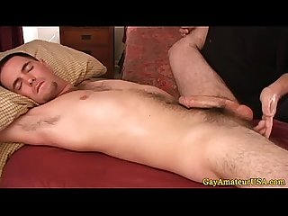 Straight amateur thick cock massaged