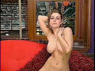 Erica campbell strip on red sofa