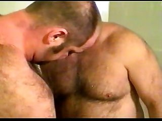 Shower and fuck 2 white mature gay and bear