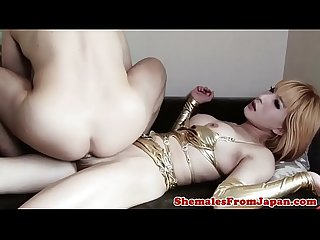 Versatile lingerie ladyboy fucked in Ass