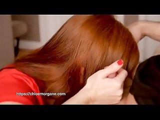 Chloe morgane camille crimson redhead sensual blowjob creampie