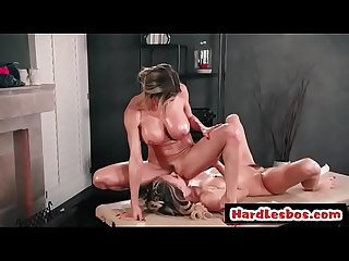 Lesbian with huge boobs gets her pussy licked - Natalia Starr and Alexis Fawx