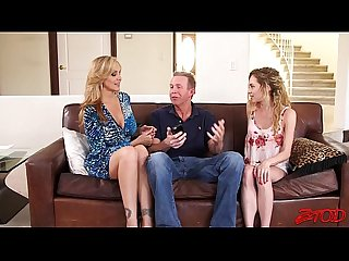 Julia Ann, Angel Smalls Sharing Same Cock