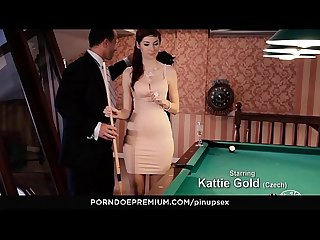 VIP SEX VAULT - Pool Table Fantasy Fuck With Stunning Natural Babe Kattie Gold