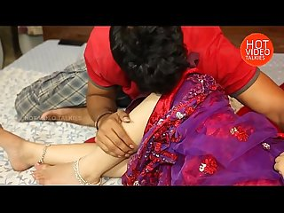 05 hot figure mamatha enjoy with her husband in red saree