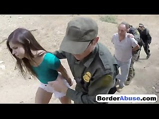 Cute brunette fucked hard on the border3