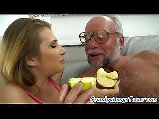 Busty babe fucked by grandpa