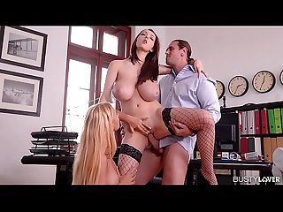 A Threesome With Kyra Hot And Lucie Wilde Reduces Stress 100%
