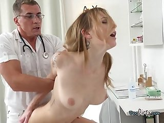 Patient belle claire gets dicked down by hung doctor