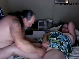 Old couple fuck to teach you