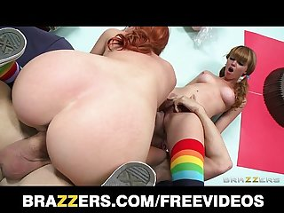 Cute pair of teenaged redheads share biggest cock they ve seen