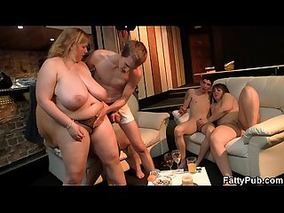 Super huge tits fatty banging at bbw party