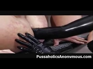 Latex femdom and strapons