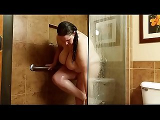 Bbw Nichole knockers in the shower