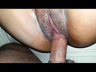 My gf tight pussy cums till i cum