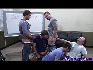 Muscular homos loving a group fuck fest