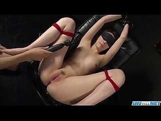 Smashing Asian toy porn in bondage scenes with Aya Kisaki