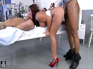 Threesome sex with nurse amanda