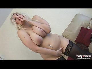 Chubby Big Tittied Blonde Slut Raphaella showing off