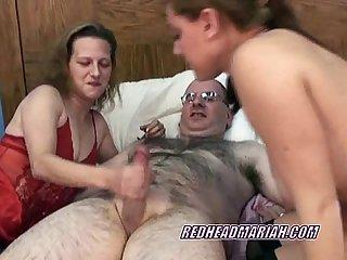 Swinging mariah in a threesome with a petite milf