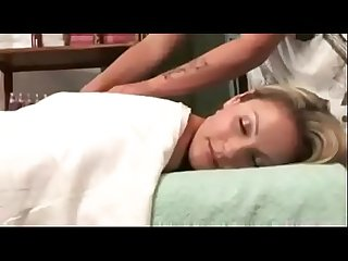 Sexy massage leads to wet panties and hot lesbian action! - watch more at..