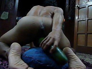 Jugando con el pepino