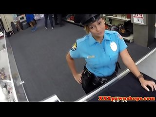 Latina cop posing for sexy pics in uniform