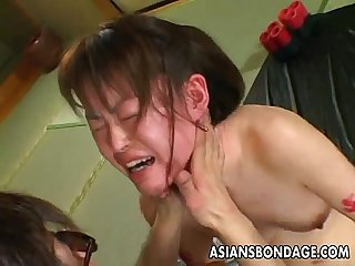 Asian bitch goes through A rough bdsm session