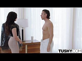 Tushy assistant relieves her boss s stress with anal